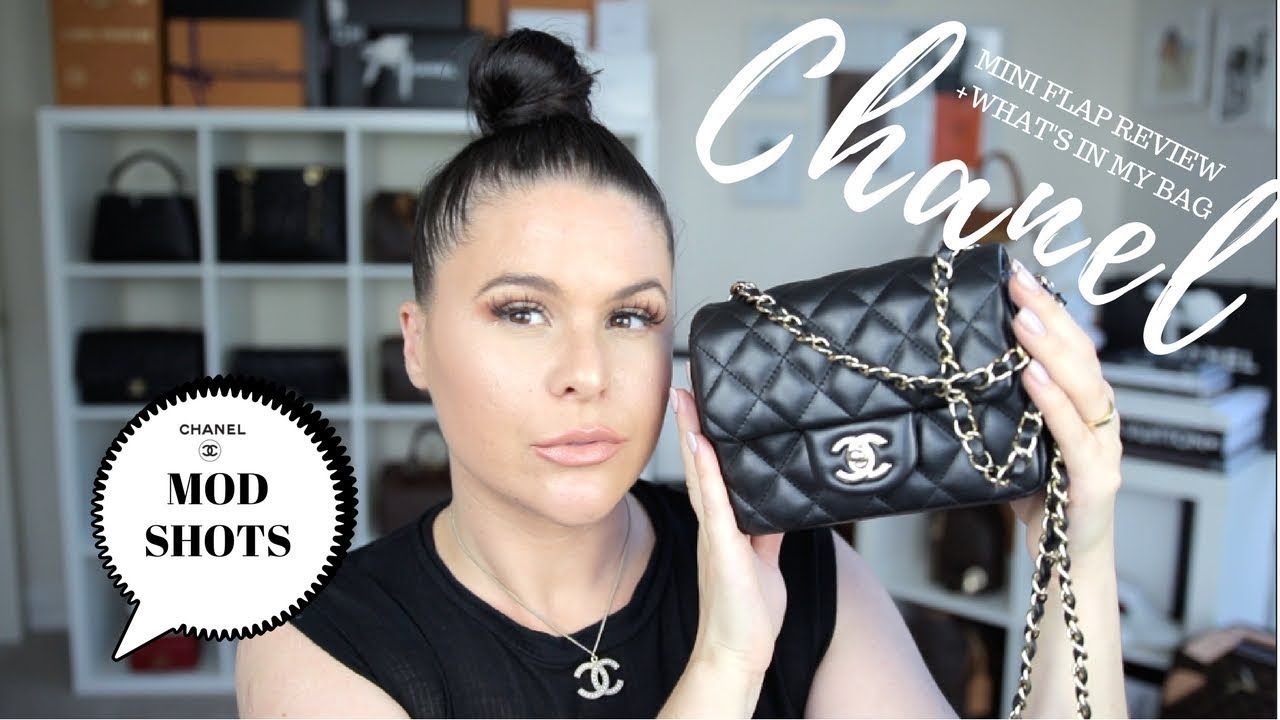 f6c4d94abecdc3 CHANEL MINI FLAP BAG REVIEW + WHATS IN MY BAG?!| Jerusha Couture ...