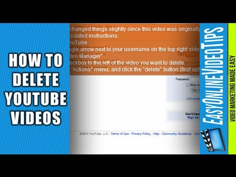 How Do I Delete my YouTube Videos 2012 (New YouTube)? | Easy Online Video Marketing Tips