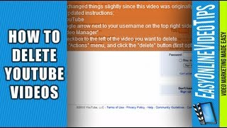 How Do I Delete my YouTube Videos 2015 (New YouTube)? | Easy Online Video Marketing Tips