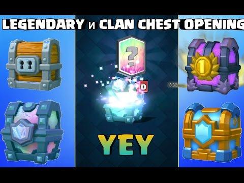 Legendary И Clan CHEST OPENING Clash royale BG 