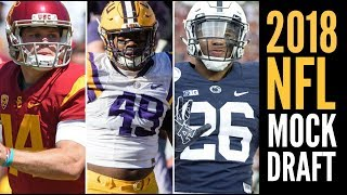 2018 NFL Mock Draft 1.0: Sam Darnold * Arden Key * Saquon Barkley Free HD Video