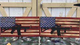 How I made an AR 15 American flag