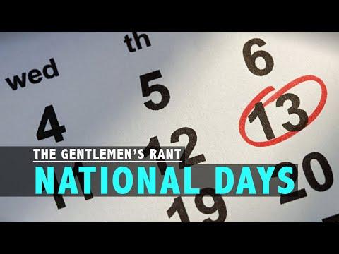 National Days | The Gentlemen's Rant