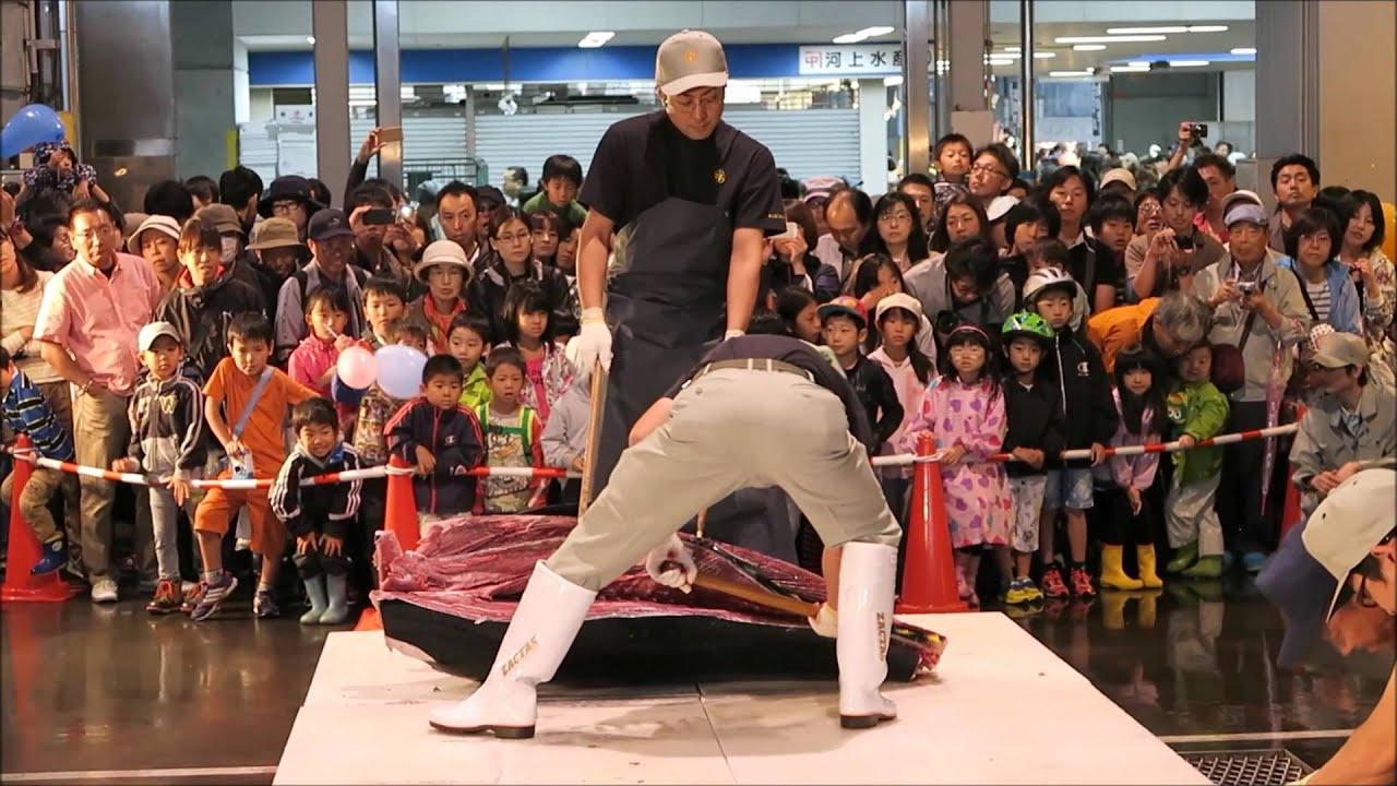マグロ解体ショー  札幌市中央卸売市場「消費拡大フェア」2015