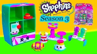 Shopkins Season 3 Playset Cool Casual Collection Fashion Spree Exclusive Wardrobe Shoes Toy Video