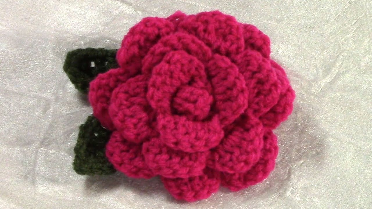 Crochet Patterns Of Flowers : DIY Crochet Flower, Tutorial, Crochet Flower/ Leaf Pattern - YouTube