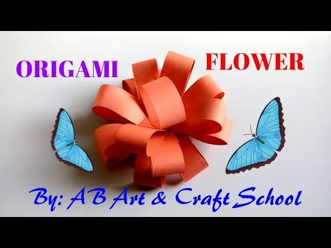 How To Make A Paper Flowers Easy Origami Paper Flower Tutorial