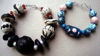 Round Paper Beads, How To Diy, Papier Mache Beads
