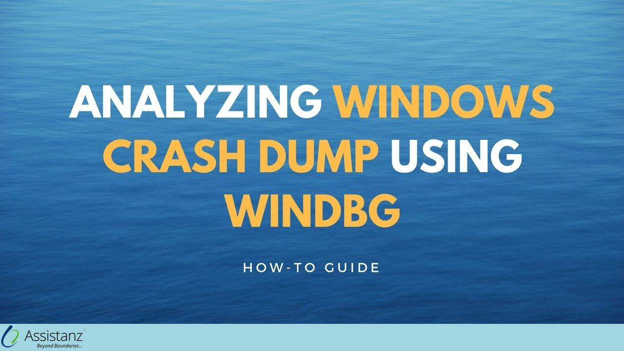 Analyzing Windows crash dump using WINDBG