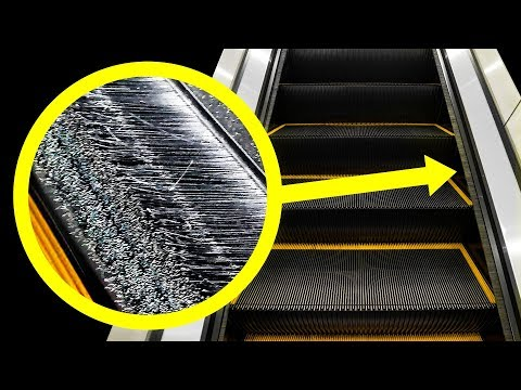Необычная причина, по которой по краям эскалатора есть щетки