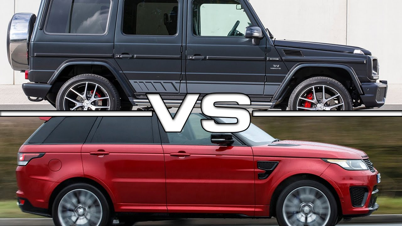 2016 Mercedes AMG G63 Edition 463 vs 2016 Land Rover Range ...