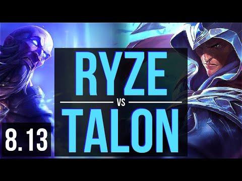 RYZE vs TALON (MID) ~ EUW Challenger ~ Patch 8.13