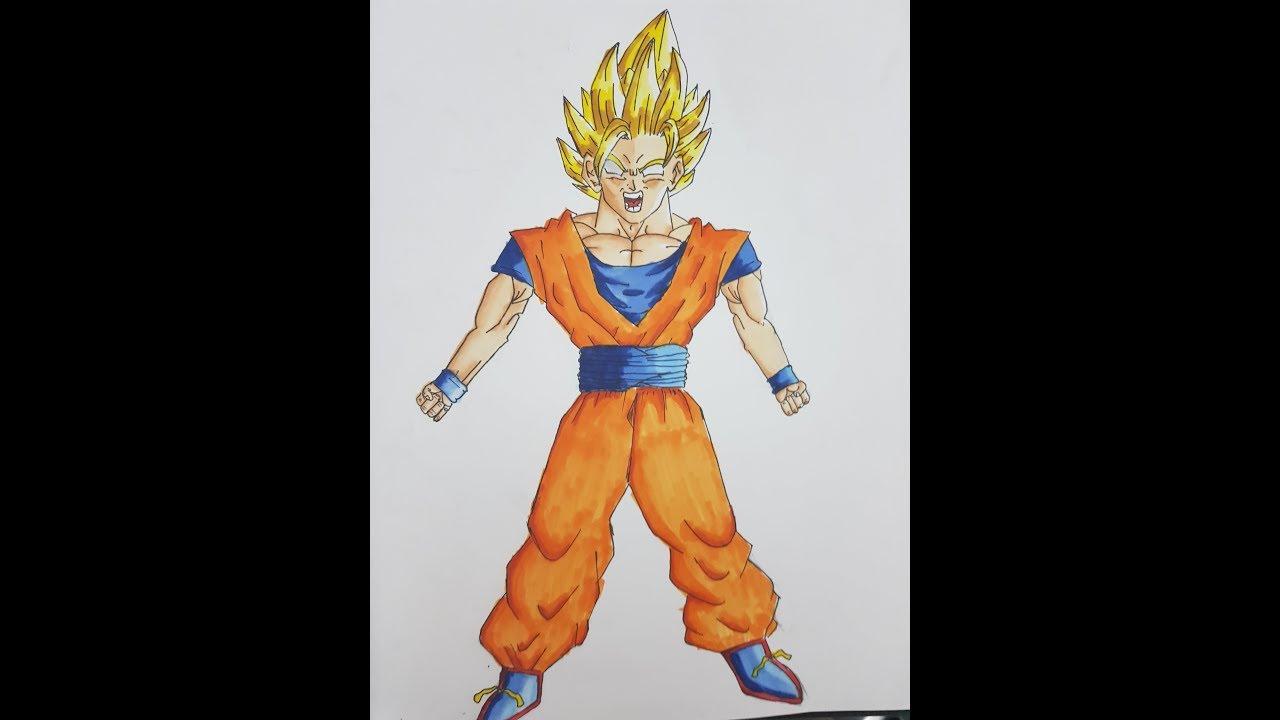 Drawing Goku Ssj2 Full Body Youtube