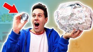 COME FARE UNA SFERA PERFETTA CON LA CARTA D'ALLUMINIO! (polishing aluminum foil ball)