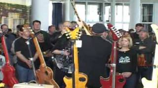 Rick Nielsen of Cheap Trick visits Les Paul's House of Sound Guitar Show in Milwaukee, WI