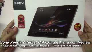 Sony Xperia Tablet Z Unboxing & Hands on Review