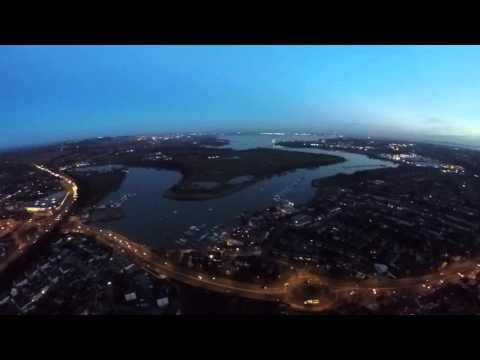 Flight over Fareham with drone