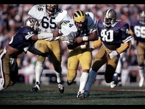 1981 Rose Bowl  #5 Michigan vs #16 Washington