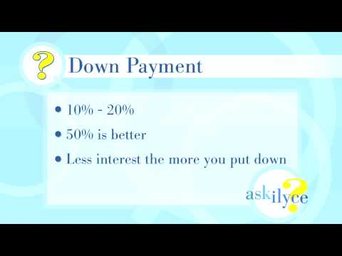 Ask Ilyce - How Big Should My Car Down Payment Be?