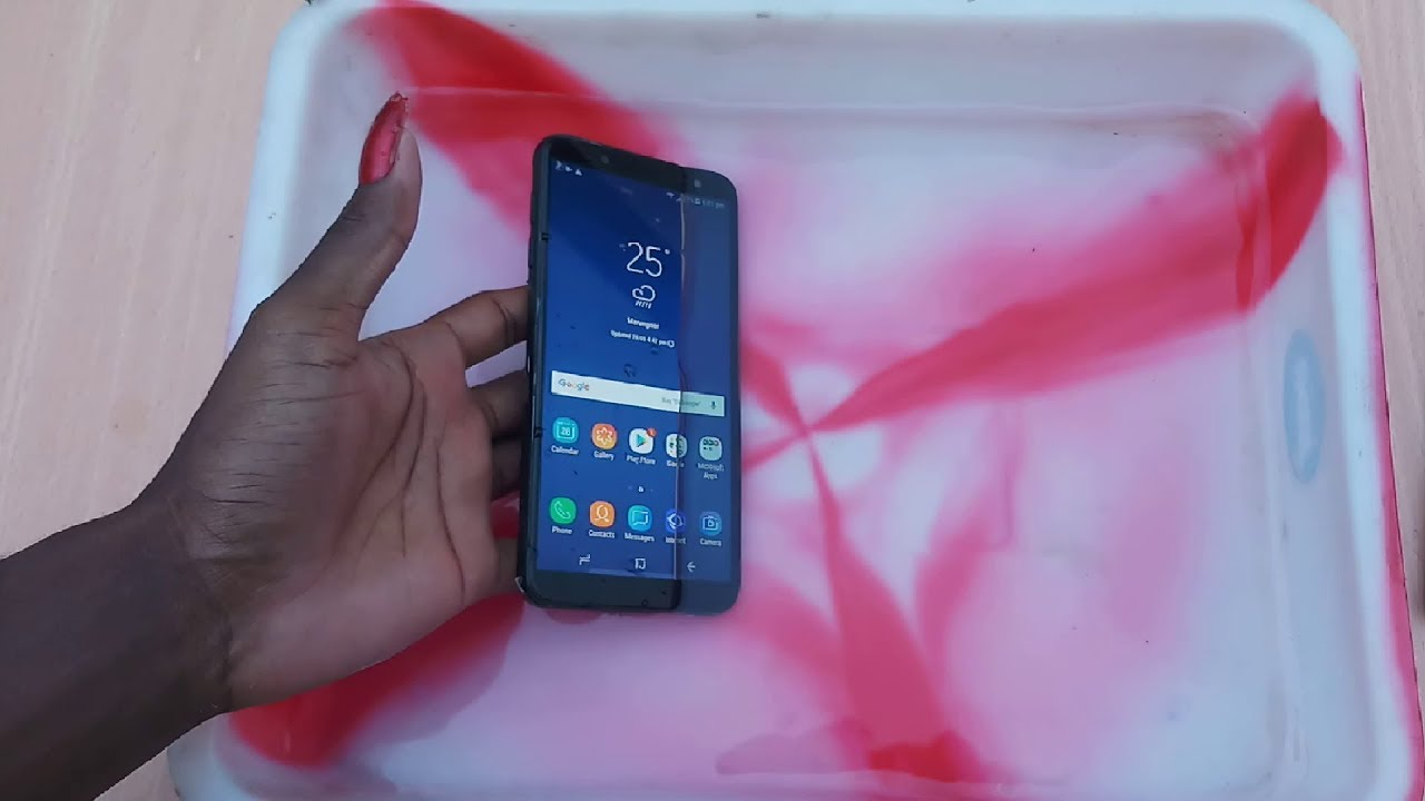 size 40 3f54a aab49 Samsung Galaxy J6 Water Test - It Is Water Resistant ?