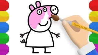 How to Draw Peppa Pig-  Peppa Pig Coloring For Kids