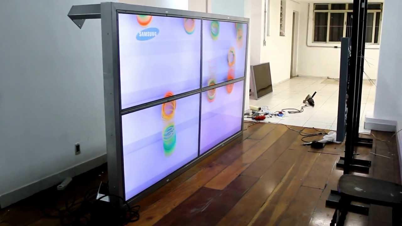 "Vídeo Wall 2x2 TV de 55"" FULL HD YouTube"