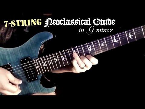 Play Through: 7 String Neoclassical Etude in G minor | ShredMentor | Jason Aaron Wood