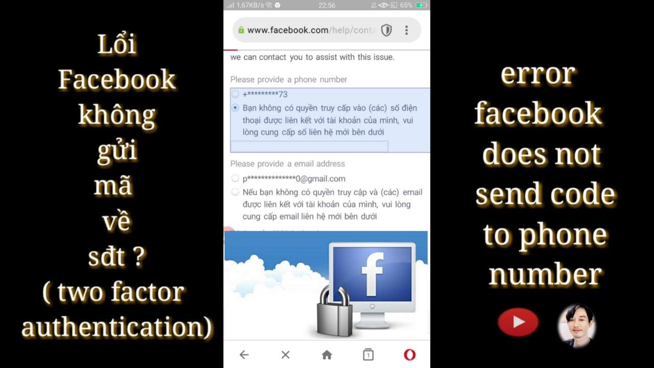 Lổi Facebook không gửi mã về điện thoại 2021 !  | Minh kiet tg