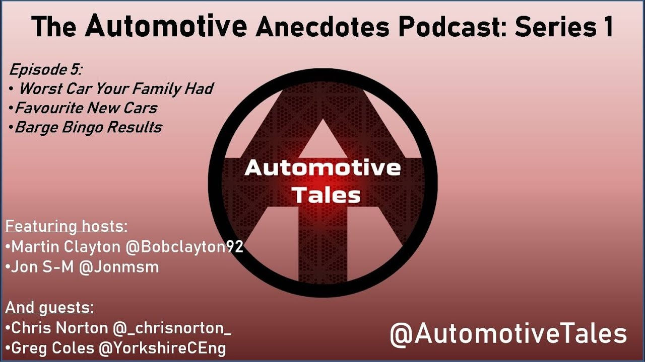 Automotive Anecdotes Podcast Series 1 Episode 5 - What new cars 2020 / 2021!
