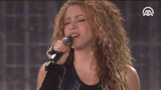 Shakira İstanbul'da konser verdi   son dakika
