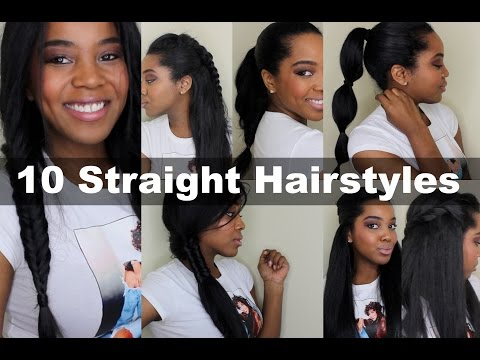 10 Quick Straight Hairstyles | Natural Hair