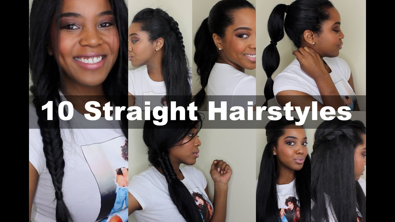 10 Quick Straight Hairstyles Natural Hair YouTube