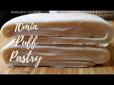 EASY Homemade Puff Pastry (READY IN 10min)