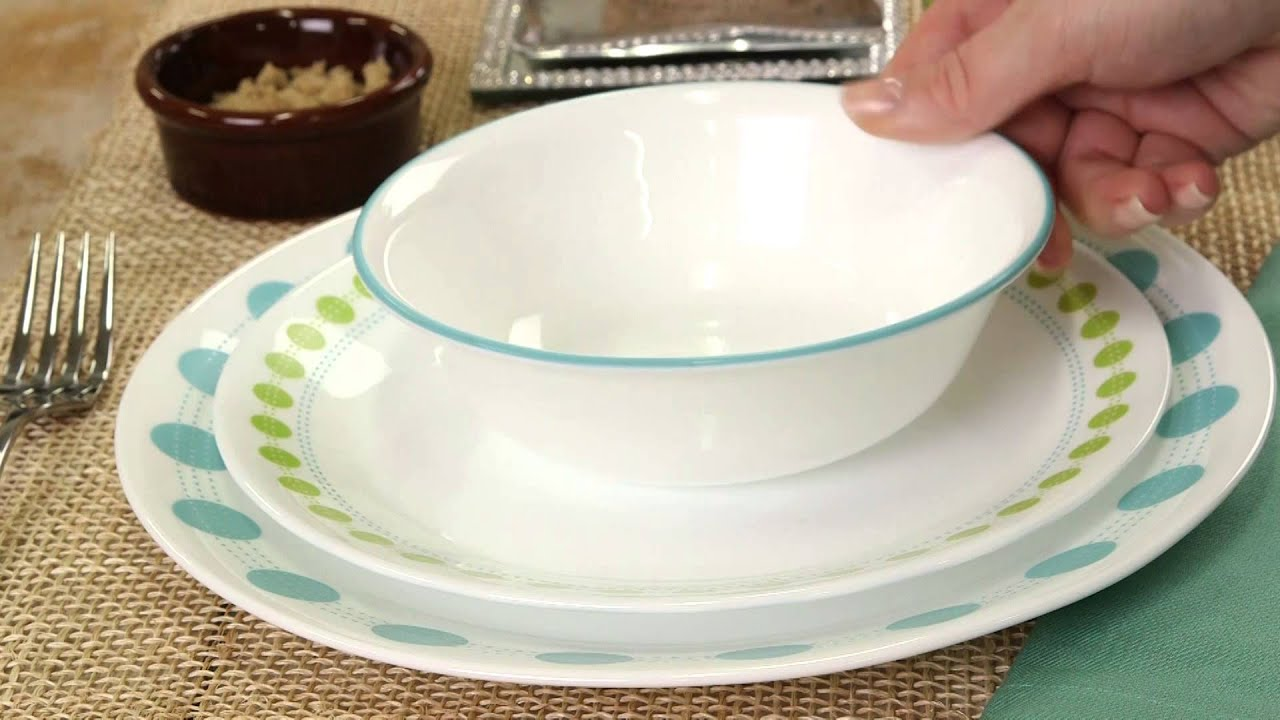 Corelle - South Beach 16 Piece Dinnerware Set - YouTube