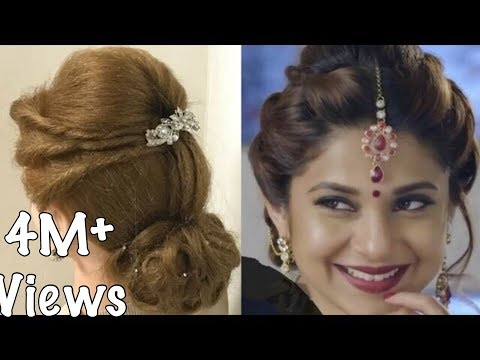 2 Beautiful Hairstyles With Puff Easy Wedding