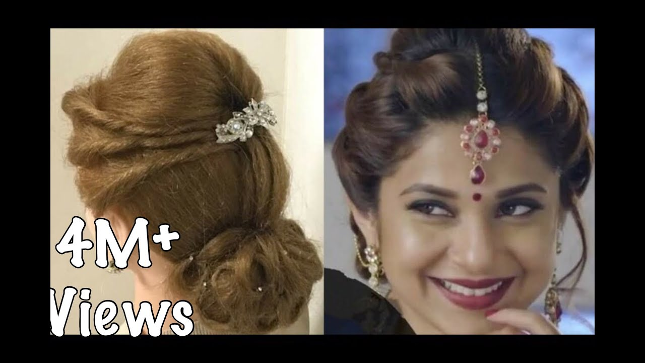 2 beautiful hairstyles with puff: easy wedding hairstyles