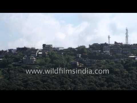 Hill top houses in Cherrapunji, Meghalaya