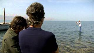 Jeremy Clarkson walks on water - Sea of Galilee