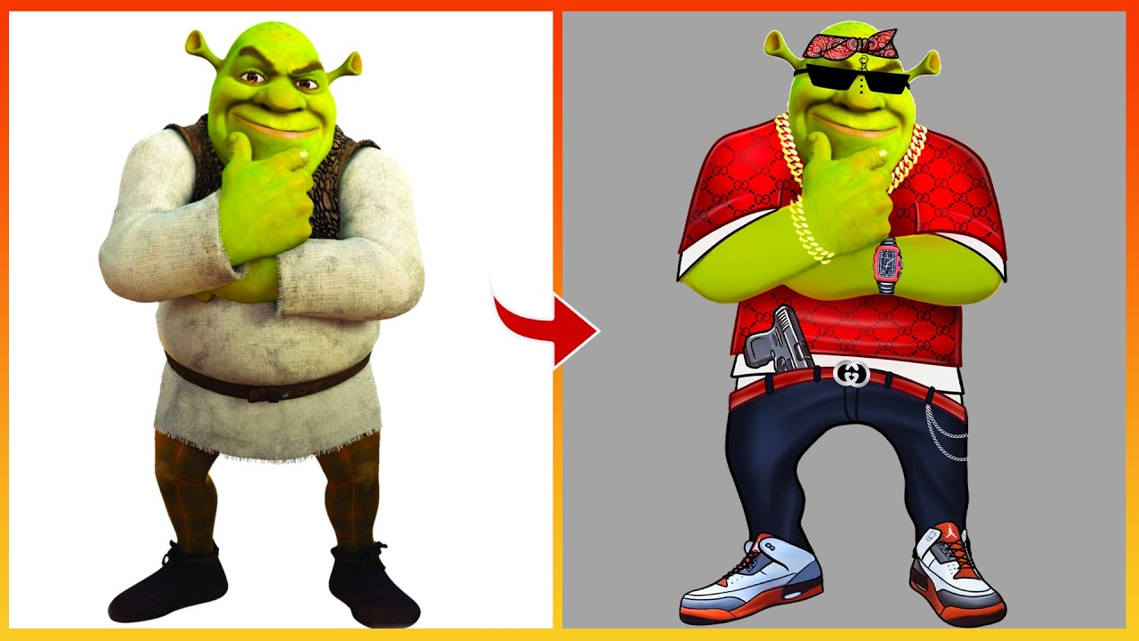 Shrek Glow Up Into Bad Boy   Shrek 5 Rebooted Disney Art