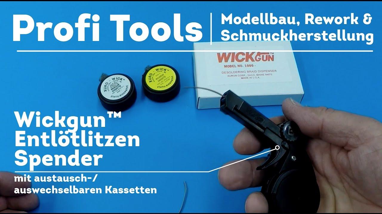 Profi Werkzeuge - Wickgun™ Entlötlitzen Spender bei Rework ...