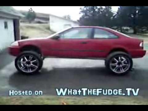 kid puts  wheels   honda civic youtube