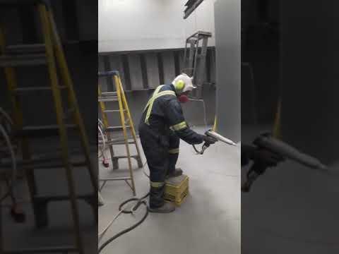 How to Powder coat a big panel