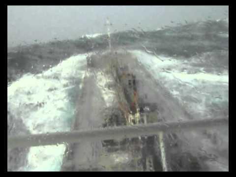 Storm at the Irish sea