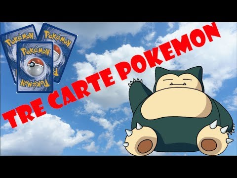 "#15 TRE CARTE POKEMON DI ""SNORLAX""!!!"