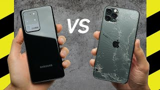 Galaxy S20 Ultra vs. iPhone 11 Pro Max Drop Test!