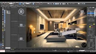 3D Studio Max - Living Room Part-1