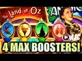 ★MAX BOOSTERS!★ NOT IN KANSAS ANYMORE | BIG WIN! THE LAND OF OZ FREE SPINS! Slot Machine Bonus (SG)