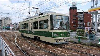 広島電鉄800形812号 江波入庫