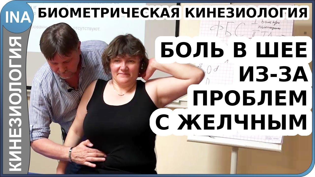 Корешковый синдром в шее как результат проблем печени и желчного. Биометрическая кинезиология