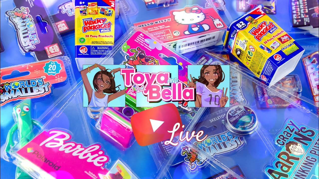 YouTube LIVE with Toya & Bella    LIVE World's Smallest Unboxing   Q&A